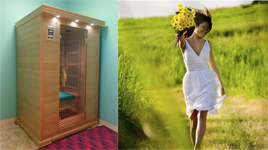 infrared sauna detox session
