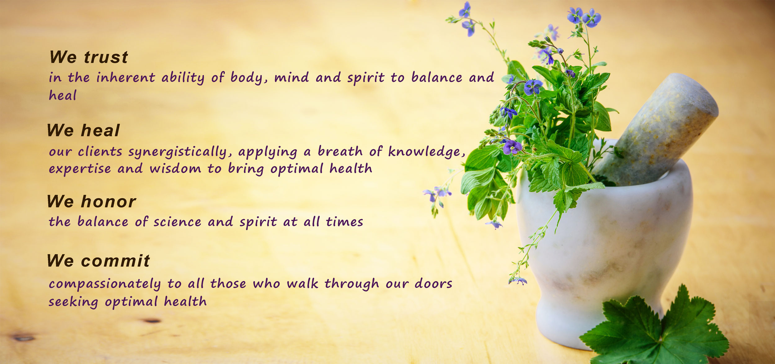 Your trust at Naturopathic Clinic