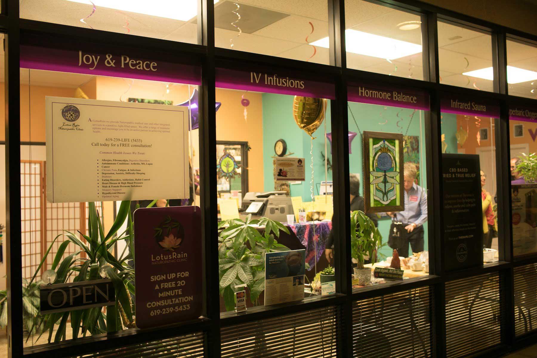 Lotus rain clinic view