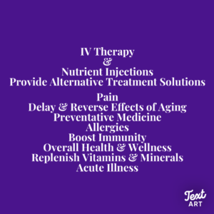 IV Therapy and Nutrient Injections - Proven Effective Alternative Treatments